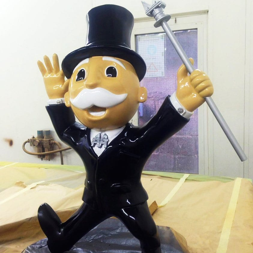 Get something 3D printed like the monopoly man.
